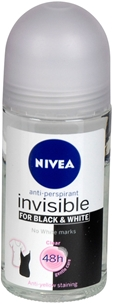 Deo roll-on Nivea, Invisible for Black & White Clear 50 ml, 3605279