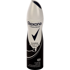 Deospray Rexona Invisible On Black & White, 150 ml, 3608940