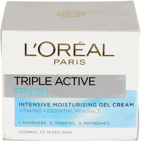 Ansiktscreme L'Oréal Paris Triple Active Fresh Intensive Moisturising Gel Cream Normal & mixed, 50 ml, 3604981
