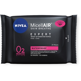 Avsminkningsservetter Nivea Cleansing Micellar Expert Wipes, 20-pack, 3609621