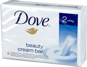 Tvålar Dove, Beauty Cream Bar 2x100g fasta tvålar 200 g 2-pack, 3603575