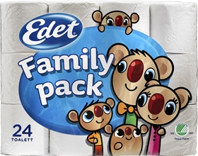 Toalettpapper Edet Family, 24-pack (24x94,2 g), 1600913