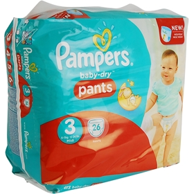 Byxblöjor Pampers Baby-Dry Pants 3 Midi, 6-11 kg 26-pack, 1601668
