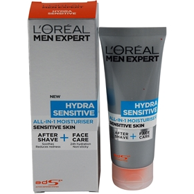 Ansiktscreme L'Oréal Men Expert Hydra Sensitive All-In-1 Moisturiser Sensitive Skin, 75 ml, 3605765