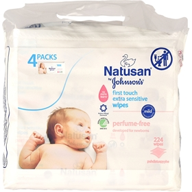 Babyservetter Natusan Baby Wipes, 224-pack (224x5,1 g), 3609080