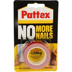 Dubbelhäftande tejp Pattex No More Nails, 3802446
