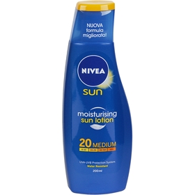 Solskyddscreme Nivea Moisturising Sun Lotion Spf 20 Medium, 200 ml, 1601239