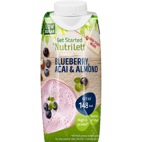 Måltidsersättning Nutrilett VLCD Smoothie Blueberry Acai Almond, 330 ml, 3608185