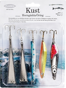 Dragsortiment Fladen Fishing Kust, horngädda/öring 25-40g 5-pack, 1000744
