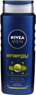 Duschgel Nivea For Men Energy, 500 ml, 3601711