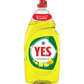 Diskmedel Yes Naturals Citron, 900 ml, 3607280