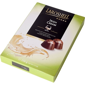 Chokladask Laroshell Cream & Irish Whiskey, 150 g, 4000410