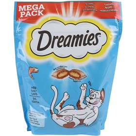 Kattgodis Dreamies Lax, 180 g, 4100253