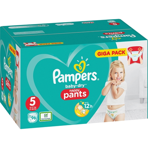 Byxblöjor Pampers Baby-Dry Nappy Pants 5, 12-17kg 84-pack (84x34,9 g), 3608729