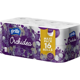 Toalettpapper Grite Orchidea White, 16-pack (16x101,9 g), 3604548
