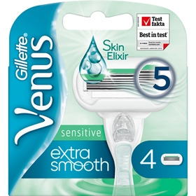 Rakblad Gillette Venus Extra Smooth Sensitive, 4-pack, 3608794