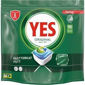 Maskindisktabletter Yes Original, 110-pack, 3609580