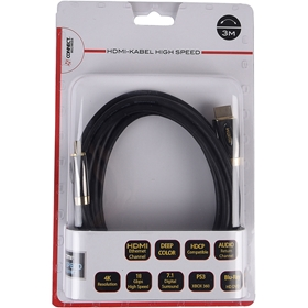 HDMI-kabel Connect, guldpläterad 3m, 5000440