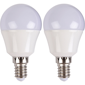 LED-lampa E14, 3W klot 250lm 2-pack, 5000225