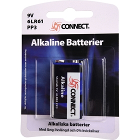 Batteri 6LR61 Connect Alkaline, 9V, 3502843