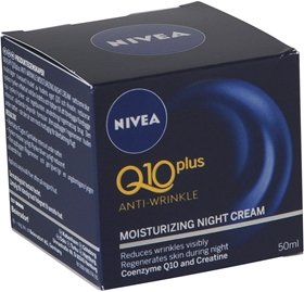Nattcreme Nivea Q10 Plus Anti-Wrinkle Moisturizing Night Cream, 50 ml, 1601510