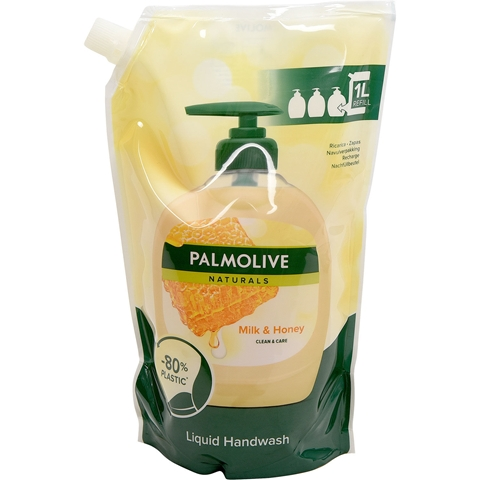 Tvål Palmolive Milk Honey Refill, 1 liter, 3609545