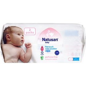 Tvättservetter Natusan First Touch Extra Sensitive Wipes, 112-pack, 3603176