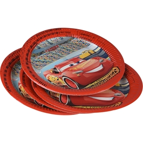 Engångstallrikar Disney Pixar Cars 3, 23cm 10-pack, 3111075