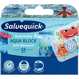 Plåster Salvequick Aqua Block Kids, 12-pack, 3607466