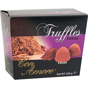 Chokladtryffel Con Amore, Cacao 200 g, 4006370