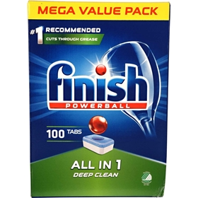 Maskindisktabletter Finish All In 1 Deep Clean, 100-pack, 3607976