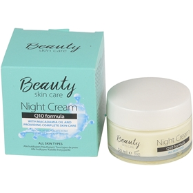 Nattcreme Beauty Skin Care Night Cream Q10, 3608208
