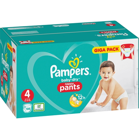 Byxblöjor Pampers Baby-Dry Nappy Pants 4, 9-15kg 94-pack (94x31,2 g), 3608728