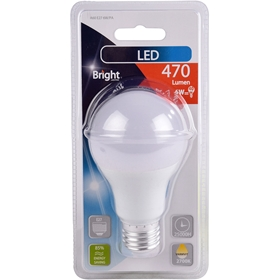 LED-lampa E27 Bright, 6W klot 470lm, 5000205