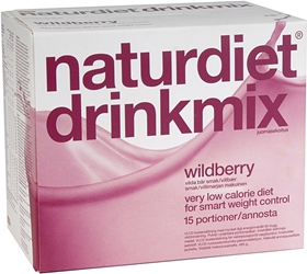 Kostersättning Naturdiet, Drinkmix Wildberry 15 portioner 495 g 15-pack, 4002499