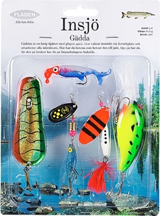 Dragsortiment Fladen Fishing Insjö, gädda 6-22g 5-pack, 1000719