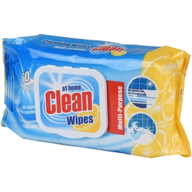 Rengöringsservetter At Home Clean Wipes Lemon, 60-pack, 3608335