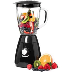 Blender Voltage 500W, 1,5 liters glaskanna, 2 hastigheter och puls, svart, 3502961