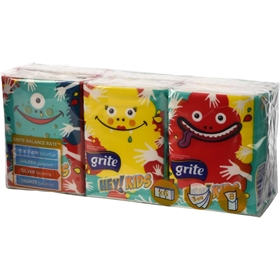 Pappersnäsdukar Grite Hey Kids, 6-pack, 3607821