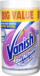 Fläckborttagare Vanish Oxi Action Crystal White, 1,5 kg, 3604444