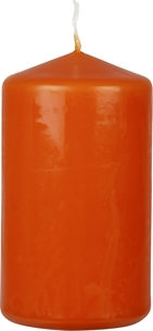 Blockljus, 12 cm, orange, 3105660