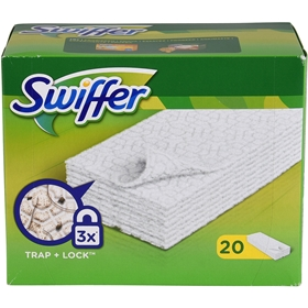 Flatmopp Swiffer Sweeper Floor Dry Pad, refill 20-pack, 3102792