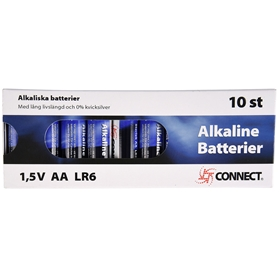 Batteri AA Connect, LR6 alkaliskt 10-pack, 3502839