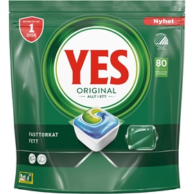 Maskindisktabletter Yes Original, 80-pack, 3609578