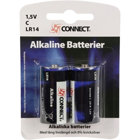 Batteri C Connect, LR14 alkaliskt 2-pack, 3502841