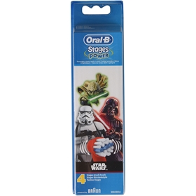 Tandborsthuvuden Oral-B Vitality Kids Star Wars, 4-pack, 3608226