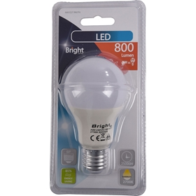 LED-lampa E27 Bright, 9W klot 800 lm, 5000203