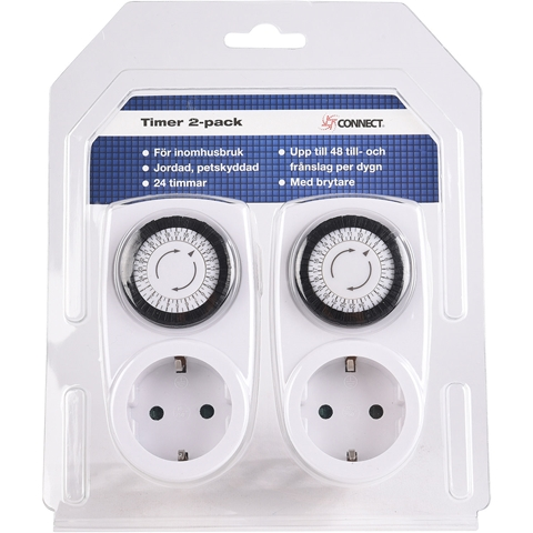 Timer Connect, inomhus 24h 2-pack, 3502624