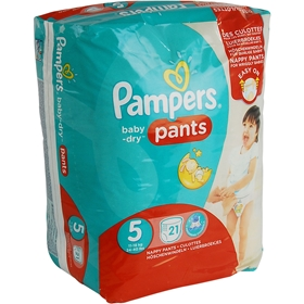 Byxblöjor Pampers Baby-Dry Pants 5, 11-18 kg 21-pack, 1601670