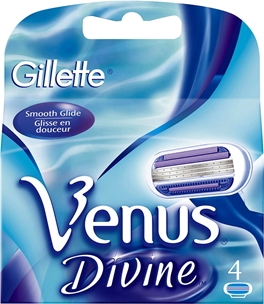 Rakblad Gillette Venus Divine, 4-pack (4x155 ml), 3604659